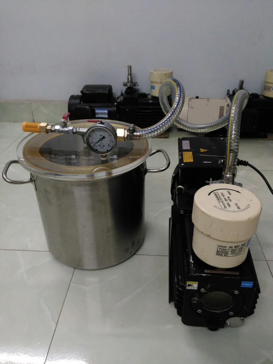 Bộ bơm hút chân không xử lý bọt khí dung dịch