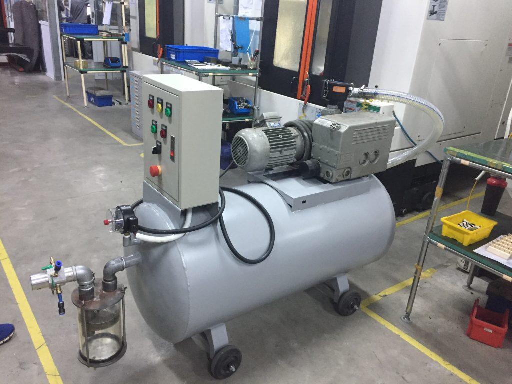 Hệ thống bơm hút chân không cho máy CNC